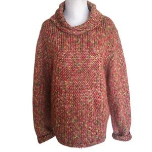 Talbots Multi-colored Cable Knit Sweater